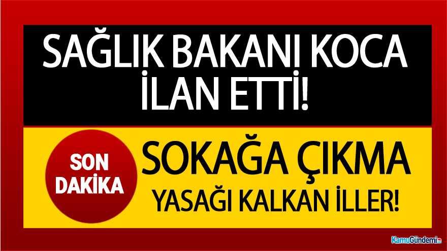 İzmir'de Hangi Yasaklar Kalktı ? Sokağa Çıkam Yasağının Kalktığı İller…