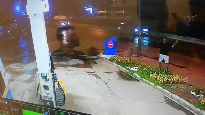 Benzinliğe oyuncak el bombası attı!